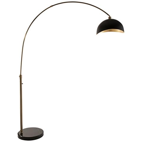 Nova Weathered Brass Arc Floor Lamp Image